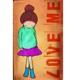 cute girl vector image vector image