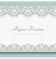 Paper lace frame vector image
