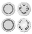 stickers set with laurel wreaths vector image