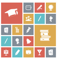 Icons tile education vector image