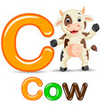 animals alphabet c is for cow vector image
