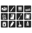 Black painter drawing and painting icons vector image