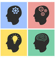 brainstorm icon set vector image