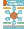 Document layout template Infographic elements vector image