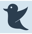 Drawing of a twitter holding for social media tag vector image