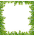 Frame With Christmas Tree vector image