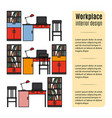furniture for workplace infographic vector image