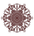 Hand drawing zentangle mandala element in marsala vector image