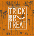 happy halloween logotype on orange colored wooden vector image