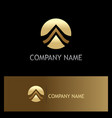 round gold letter a logo vector image