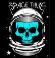 skull astronaut vector image