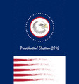 vote presidential election bald eagle as the vector image