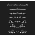 Silver text dividers set Ornamental decorative vector image