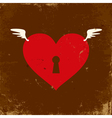 Heart grunge vector image