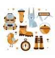 Camping Themed Symbols vector image