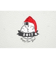 New Year and Merry Christmas Christmas shopping vector image