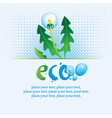 Ecological banner vector image
