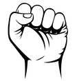 Male clenched fist hand vector image