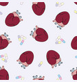 the human heart seamless pattern vector image