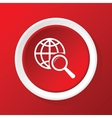 Global search icon on red vector image