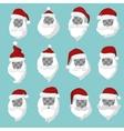 Portrait Santa Claus face cut silhouette vector image