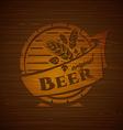 template beer emblem vector image
