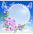 Floral Lace Frame vector image vector image