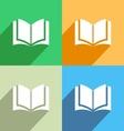 Book icon Menu icon vector image
