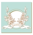 card with a bouquet of flowers and congratulation vector image