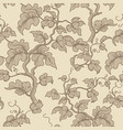 floral seamless pattern garden plant branch vector image