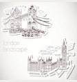 London-hand drawn landscape in vintage style vector image
