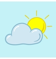 partly sunny icon vector image