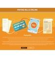 Pay Bills Online vector image