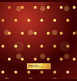 red background with golden polka dots vector image