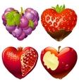 shape of heart set 2 vector image