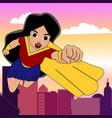 superhero woman cartoon vector image