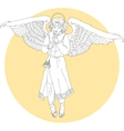 white angel vector image