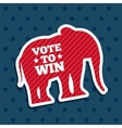 Republican political party animal vector image