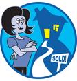Realtor sold vector image