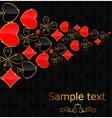 Abstract background with card suits for design vector image