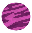 far away planet icon isolated vector image