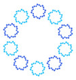 Round wreath of light blue and dark blue vector image