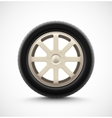 Isolated Car Wheel vector image