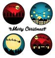 Christmas Night Circle vector image