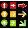 arrow of a traffic light vector image