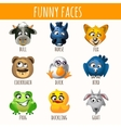 Animal funny faces vector image
