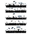 Cheering or Protesting Crowd Estonia vector image