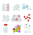 variety of drugs and pills wide range vector image