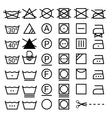 Set of washing symbols Laundry icons isolated on vector image