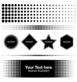 Abstract Halftone Design Elements for your design vector image